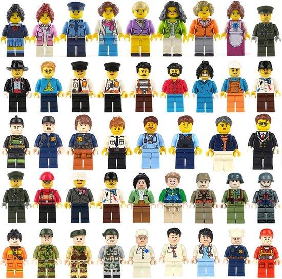 XXL set met 12 figuren / poppetjes - (passend op megablocks , banbao, lego)