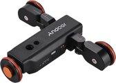 Andoer® Camera slider | Met afstandsbediening | Video dolly | USB oplaadbaar | Batterijduur 6 uur | Voor camera van 1kg | Zwart