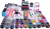 Membeli Acryl Nagels Starterspakket 54 Kleuren/Poeders Acryl - Acryl Nagels Starter Kit - Nail Art Set