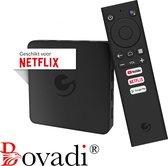 Bovadi Ematic Pro X 1 - Officiële Android TV Box - Google Gecertificeerd - Netflix 4K Set Top Box - Makkelijk mee te nemen op reis - 1 Jaar Garantie + Draadloos Keyboard