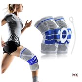 Knie brace sport met extra bescherming - Knee sleeve - Kniebeschermers - Knieband - Knee support  - Knie bandage - Sportbrace - Compressie brace - Maat XL - Mannen en Vrouwen