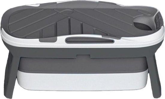 HelloBath® Opvouwbaar bad Antraciet - Zitbad voor volwassenen - Inklapbaar Bad - Bath Bucket - Model: Oliver - Incl. Badlamp en Afvoerslang tot 3 meter.