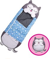 Happy napper -160 cms | slaapzak junior |nappers | Children Sleeping Bag | kinderen slaapzak | Super Soft 2 in 1 Fun Pillow &Sleepy for Boys | kat slaapzak | zachte slaapzak | knuffel slaapzak | 2 in 1 slaapzak | kinderen