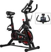 BrightWise® SpinningFiets Ingebouwde tablet-/telefoonhouder - Spinbike -  Hometrainer fiets - Hometrainers fitness - Spinning fiets - Max. draagcapaciteit 120 kg