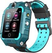 Smartwatch-Trends T12 Pro - 4G Smartwatch Kinderen - GPS Tracker - Simkaart  - Videobellen - Dual Flip Camera - Groen
