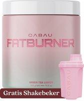 Cabau Lifestyle - Fatburner / Verbrander - Stimuleert vetverbranding - Groene Thee Limoen smaak - 300 gram - Gratis shakebeker