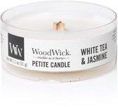 2 stuks WoodWick White Tea & Jasmine Petite Candle