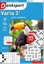 Denksport Puzzelboek Varia 3* groot variaboek, editie 124