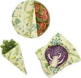 Bee's Wrap - 3 pack Assorted - Vegan - Herb Garden - Groen