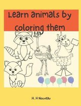 Learn animals by coloring them