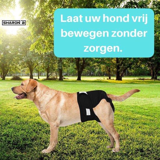 Loopsheidbroekje hond - zwart - maat XL - voor grote honden - herbruikbaar - hondenbroekje - hondenluier - loopsheid - ongesteldheid - voorkomt ongewenste zwangerschappen bij teefjes - milieuvriendelijk - verantwoord - perfecte pasvorm