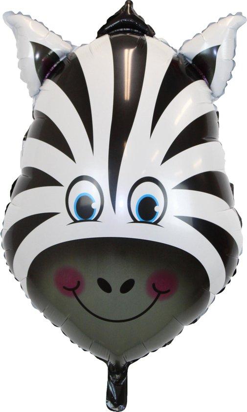 Zebra Ballon Jungle Safari Helium Ballonnen Verjaardag Versiering Feest Decoratie XL Formaat 90 CM Met Rietje – 1 Stuk