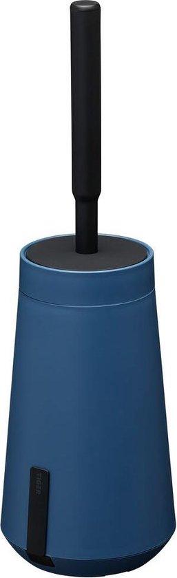 Tiger Tess Toiletborstelhouder met Swoop® borstel flexibel - Blauw / Zwart