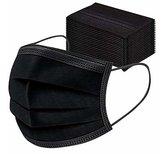 Mondkapje zwart niet medisch 3 laags| Mondmasker|vrij van latex en waterafstotend| Per 50 stuks |