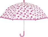 Playshoes - Transparant Paraplu voor meisjes - Hartjes - maat Onesize