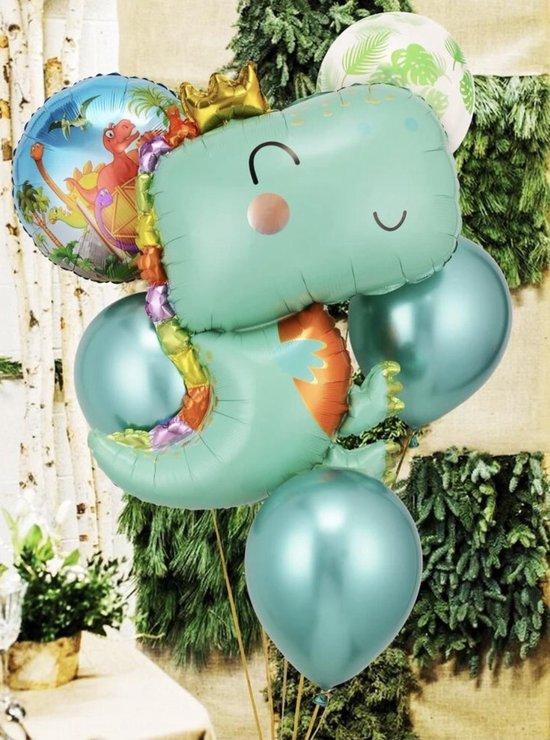 Dinosaurus ballonnen - 8 delig - Grote dino - Dino feestje - Jongen - Meisje - Dino verjaardag - Kinderfeestje - Kinderverjaardag - Safari en Jungle