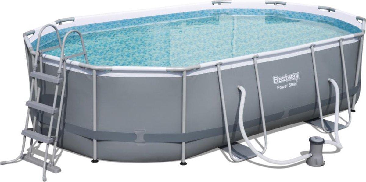 Bestway Power Steel zwembad 488x305x107 cm. met filterpomp en accessoires