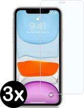 3 stuks screenprotector beschermings glas voor Apple iPhone XR en iPhone 11 Screenprotector Beschermglas Glazen bescherming voor iPhone XR en iPhone 11.