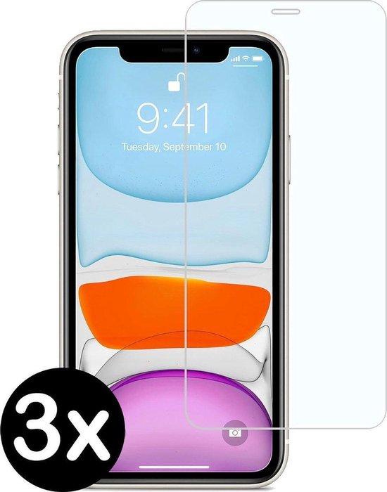 3 stuks screenprotector beschermings glas voor Apple iPhone XR en iPhone 11 Screenprotector Beschermglas Glazen bescherming voor iPhone XR en iPhone 11