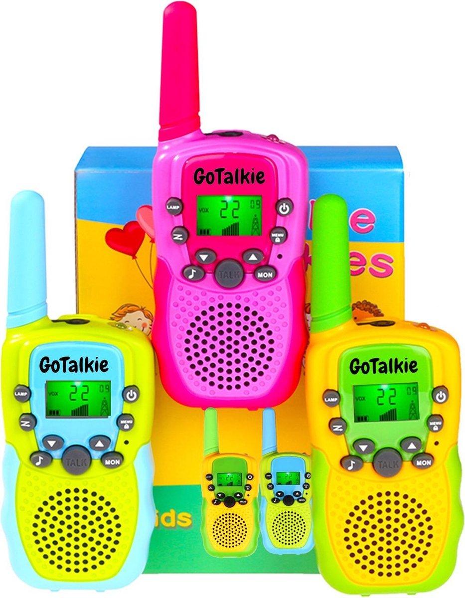 GoTalkie® Walkie Talkie Voor Kinderen - Walkie Talkie Kids - Portofoon - 3Km Bereik - 3 Stuks