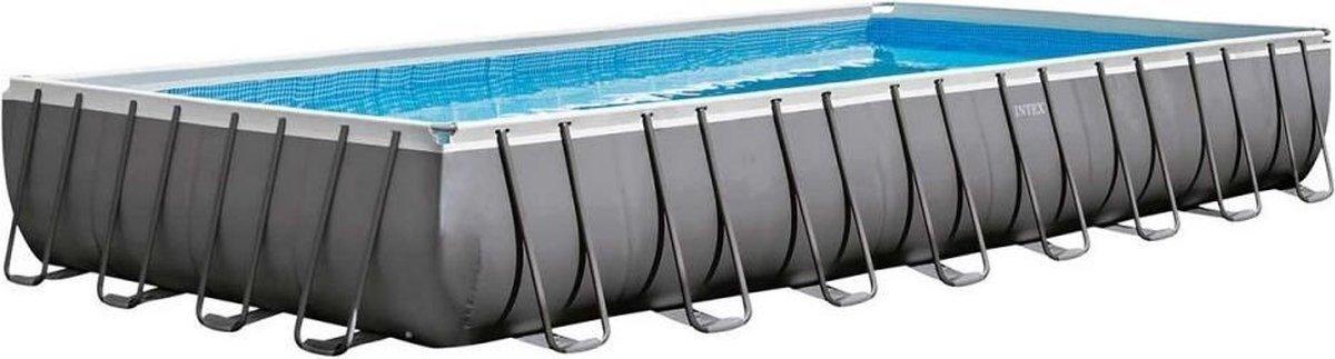 Intex Opzetzwembad Met Accessoires Ultra Xtr Frame 975 X 488 X 132 Cm Antraciet