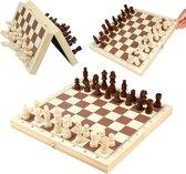 PK-Goods - Schaakbord- Met schaakstukken - Schaakspel - Opklapbaar - Magnetisch houten schaakbord