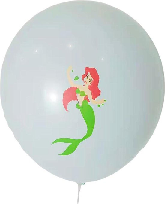 Ariel de kleine Zeemeermin Ballonnen - set van 6
