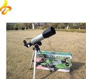 E&CT Trading HD Telescoop - 360/50 Draagbare Kinderen/Volwassene - Cadeau Lucht Waarnemer - 50mm Astronomische Refractor Telescoop
