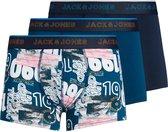 Jack & Jones jongens - 3 boxers - blauw - JACclound - maat 164