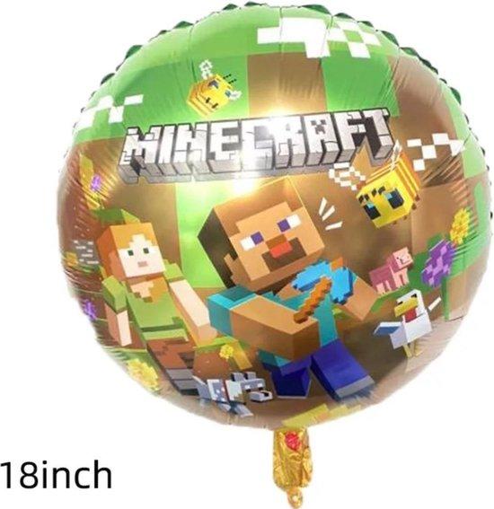 Minecraft folieballon rond 18 inch /verjaardag/kinderfeest/party