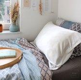 Mori Concept - Essential zijden kussensloop - 60x70 - Crème wit - 100% Moerbei zijde Voorkant - Mulberry Silk Pillowcase