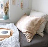 Mori Concept - Essential zijden kussensloop - 60x70 - Beige - 100% Moerbei zijde Voorkant – Mulberry Silk Pillowcase