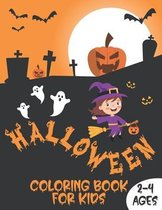 Halloween Coloring Book For Kids 2-4 Ages