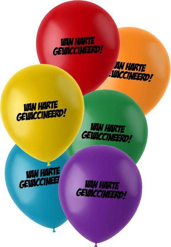 """Ballonnen """"Van harte gevaccineerd"""" (helium)"""