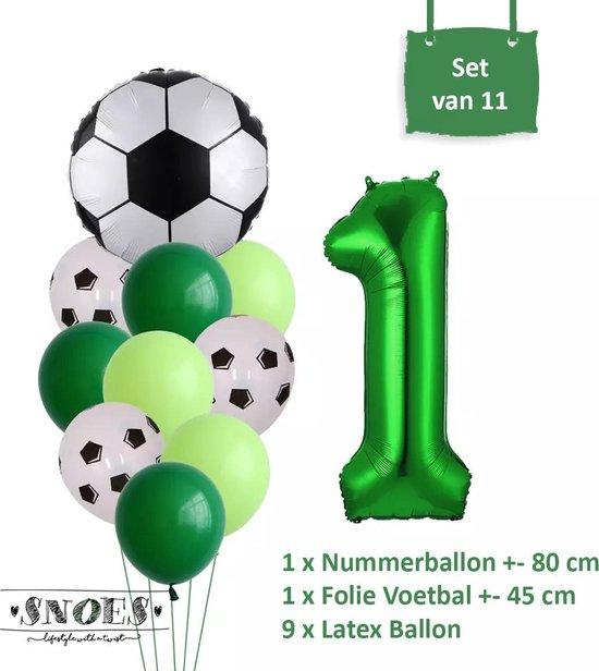 Voetbal Verjaardag * Ballonnen Set 1 Jaar * Hoera 1 Jaar * Jarig Voetbal * Voetbal Fan * Snoes * 80 CM * Voetbal Versiering * Birthday