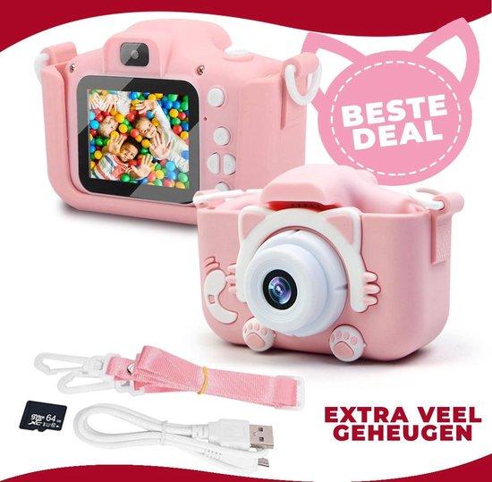 Lisiv ® Digitale Kindercamera HD 1080p Inclusief 64GB Micro SD Kaart - Schokbestendig Kinderfototoestel