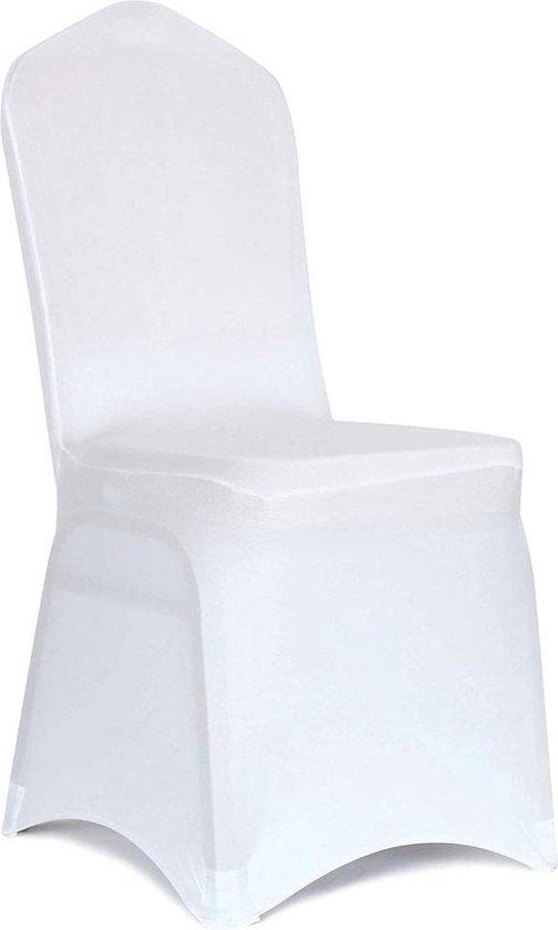 Stoelhoezen - 10 Stuks –Wit – Bescherm stijlvol je stoelen