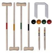Croquetspel Hout voor Kinderen en Volwassenen 4PERS - Kroket Spel - croquet set -