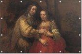Het joodse bruidje   Rembrandt van Rijn   ca. 1665 - ca. 1669   Kunst   Tuindoek   Tuindecoratie   90CM x 60CM   Tuinposter   Spandoek   Oude meesters