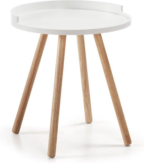 Kave Home - Kurb bijzettafel Ø 46 cm wit