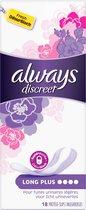 Always Discreet Plus Voor Urineverlies - Voordeelverpakking 5x18 - Inlegkruisjes