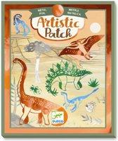 Djeco  Knutselpakket - artistic patch - dinosaurussen