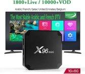 4K QUALITY X96 Mini TV BOX Android 7.1 + 1 JAAR GRATIS IPTV  1800 KANALEN