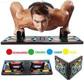 Push up bord - 12 in 1 Full Body Workout - Opdruksteun - Push Up Grip + Bars - Opvouwbaar - VERBETERDE VERSIE - PUSH UP BORD