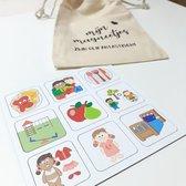 Pictogrammen voor je peuterplanbord | Magnetische picto's | Dagritme magneetjes voor je planbord (meisje)