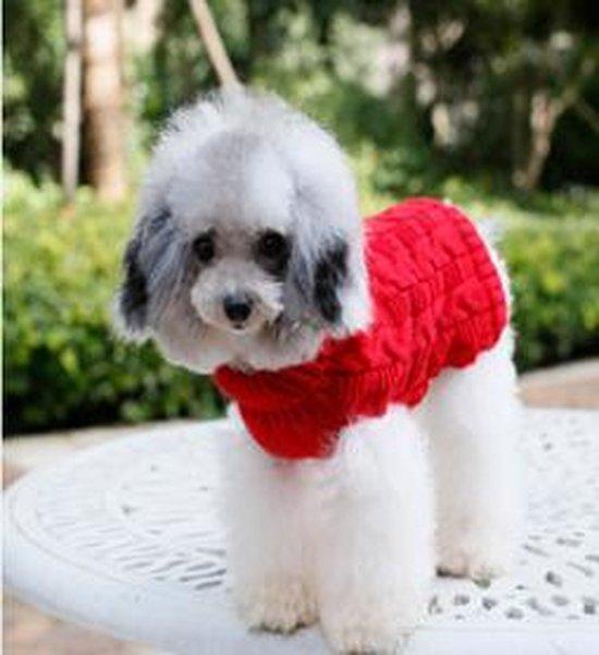 Gebreide trui kleur rode voor de hond