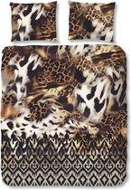 Good Morning 5729-P Dierenprints - dekbedovertrek - tweepersoons - 200x200/220 cm  - 100% cotton - bruin
