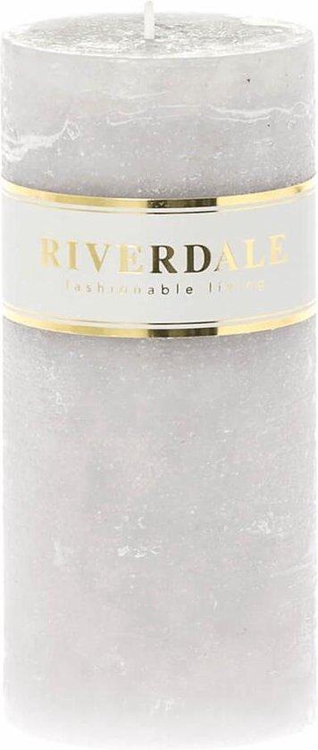Riverdale Kaars Pillar grijs 7x14cm