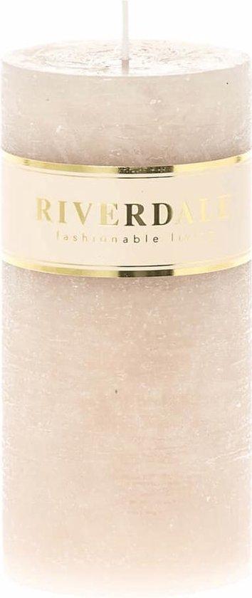 Riverdale Kaars Pillar beige 7x14cm