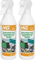 HG waterdicht voor zonneschermen, dekzeilen en tenten - Anti-Regen - 2 Stuks !